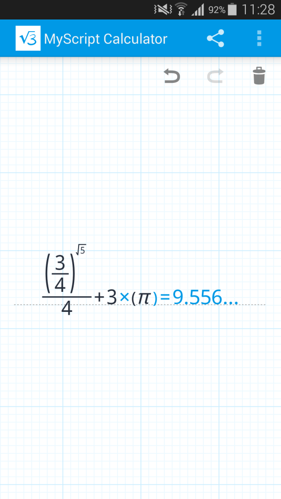 MyScript Calculator - Beispiel